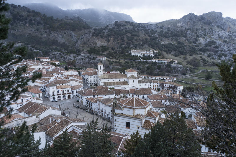 Municipalities in the province of Cadiz, Grazalema royalty free stock photo