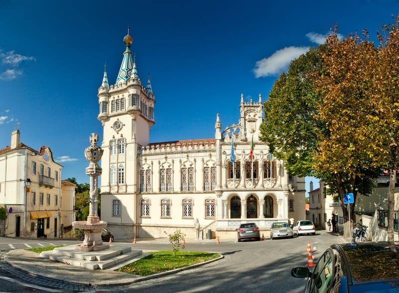 Municipality av Sintra (Camara Kommunal de Sintra), Portugal royaltyfri fotografi
