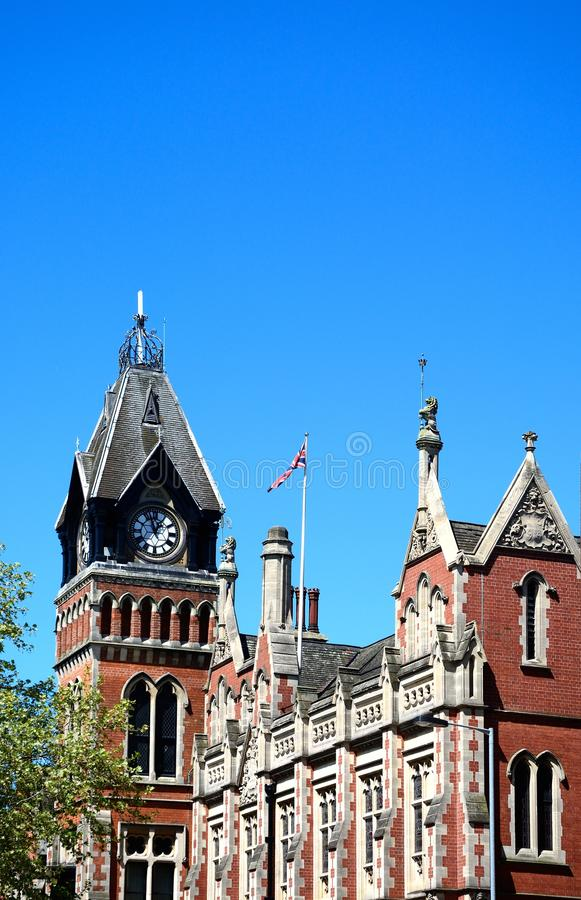 Municipio, Burton sopra Trent fotografie stock libere da diritti
