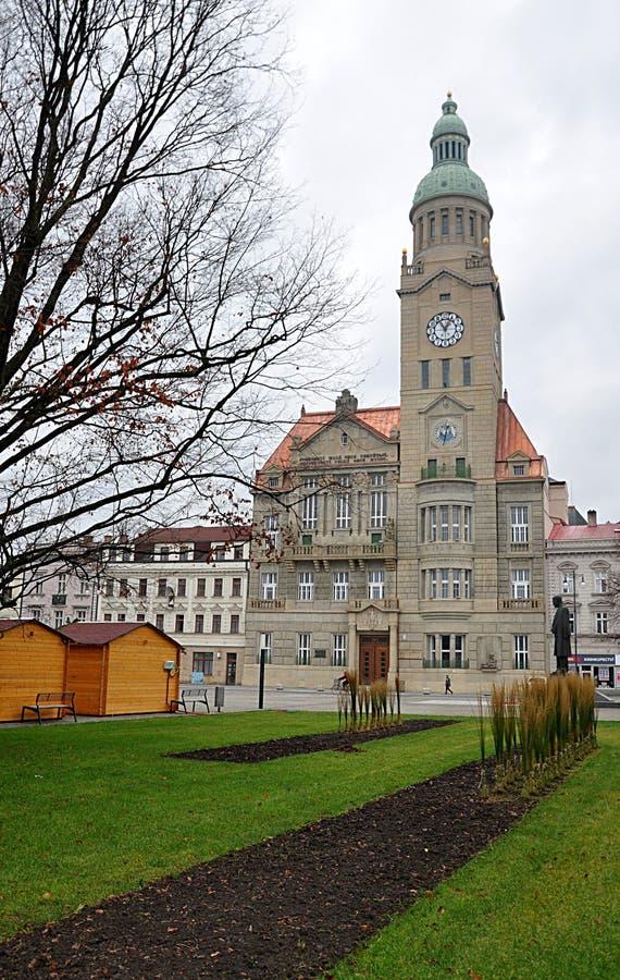 Municipio, città di Prostejov, repubblica Ceca, Europa immagine stock libera da diritti