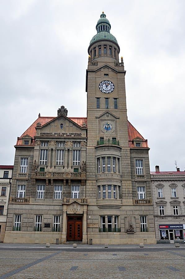 Municipio, città Prostejov, repubblica Ceca, Europa fotografie stock