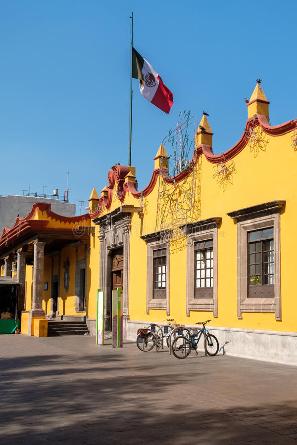 Municipio coloniale a Coyoacan in Città del Messico fotografia stock libera da diritti