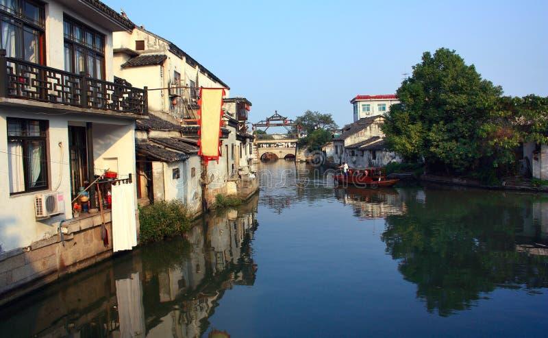 Municipio del agua - China del tongli imagenes de archivo