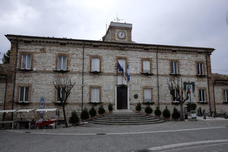 Municipio del numana immagine stock