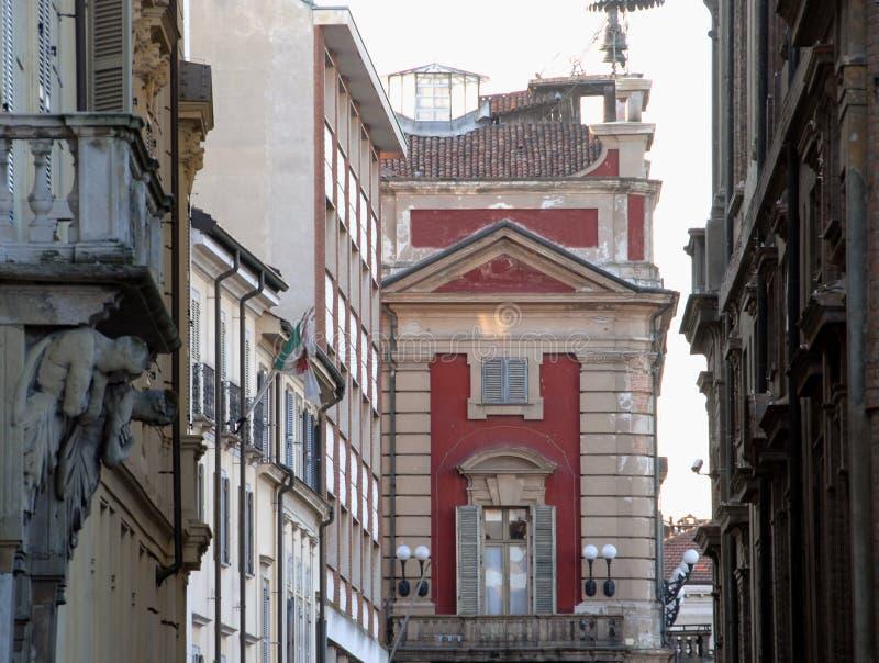 Municipio di Alessandria e vie del centro urbano fotografia stock libera da diritti