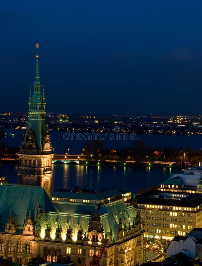 Municipio di Amburgo fotografie stock libere da diritti
