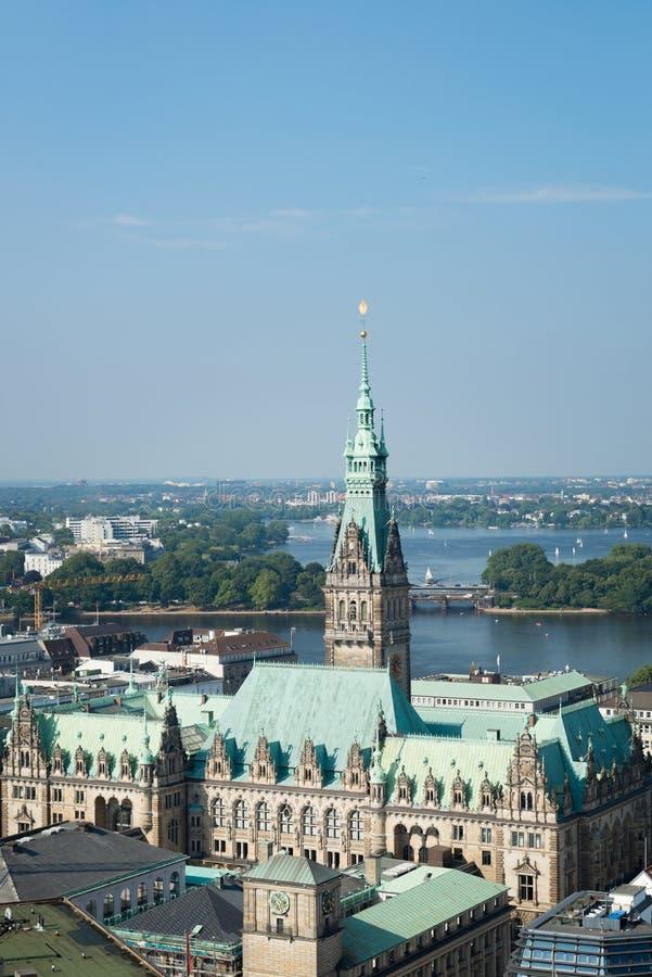 Municipio di Amburgo immagine stock