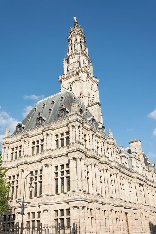 Municipio di arazzo e campanile fotografie stock libere da diritti