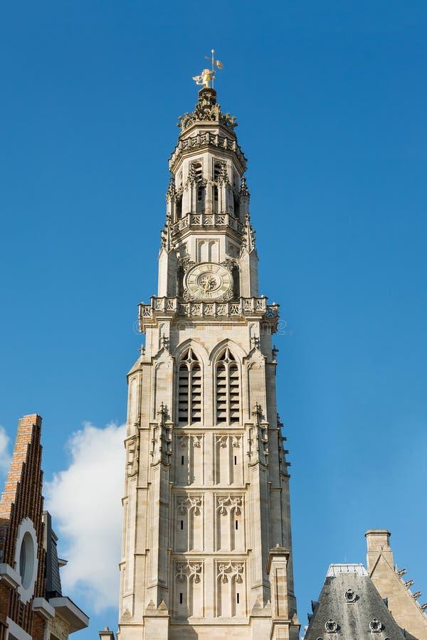 Municipio di arazzo e campanile fotografia stock