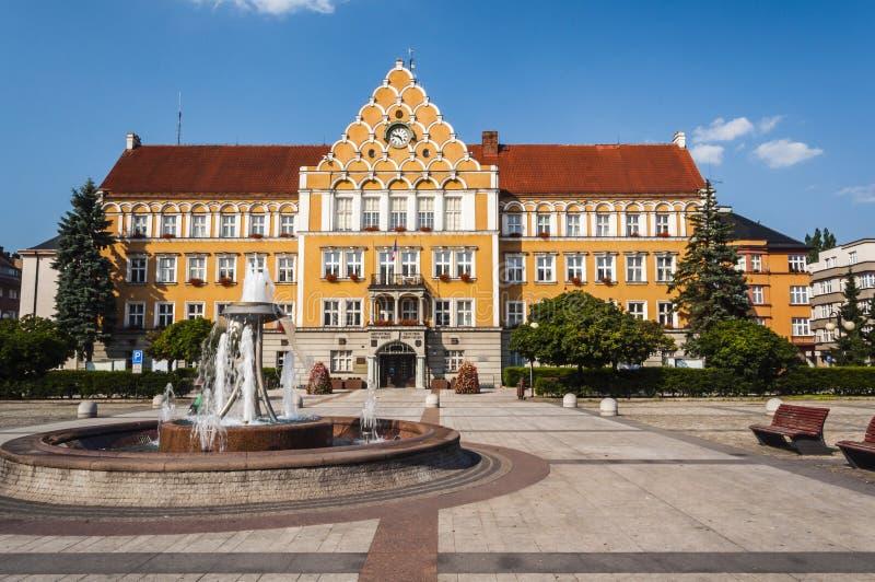 Municipio di Cesky Tesin fotografia stock