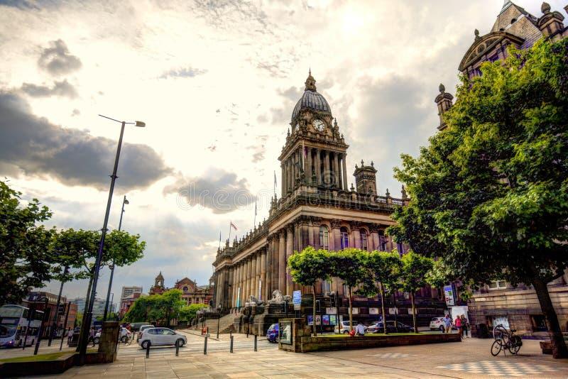 Municipio di Leeds fotografia stock