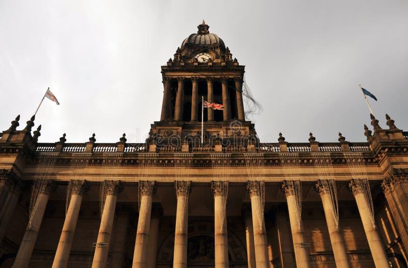 Municipio di Leeds nella vista di West Yorkshire della parte anteriore di costruzione fotografie stock