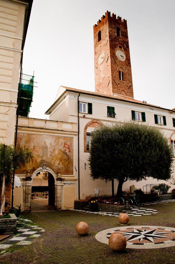 Municipio di Noli fotografie stock