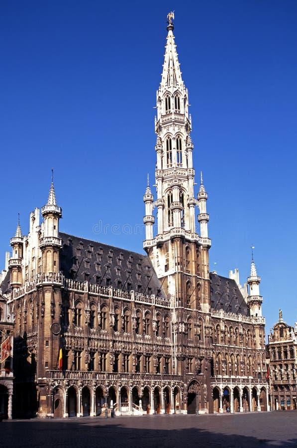 Municipio, grande posto, Bruxelles, Belgio. fotografia stock