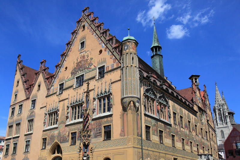 Municipio medioevale di Ulm fotografie stock