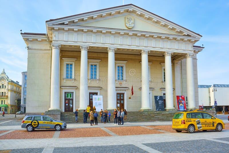 Municipio nella parte storica di vecchia città di Vilnus Lithua fotografia stock