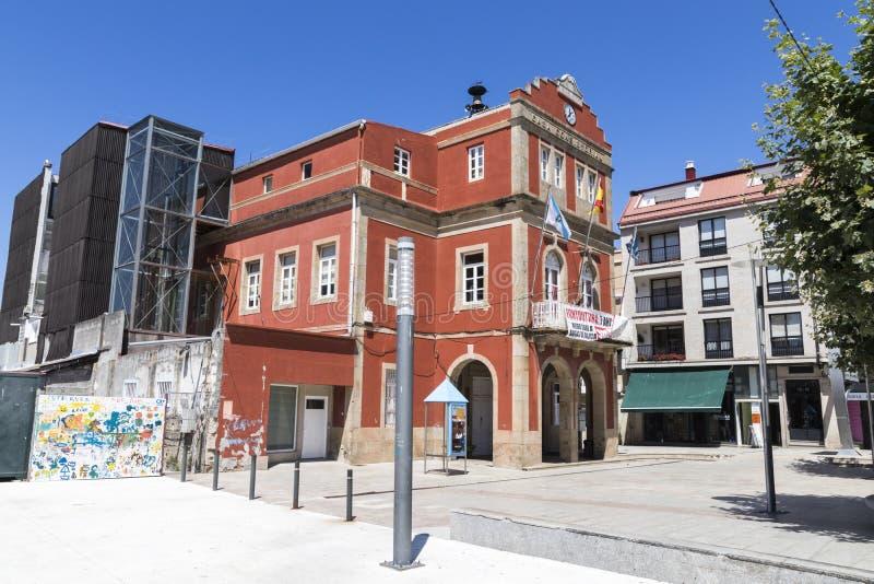 Municipio, Spagna di Bueu immagine stock