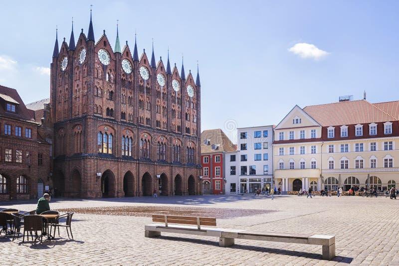 Municipio Stralsund immagini stock libere da diritti