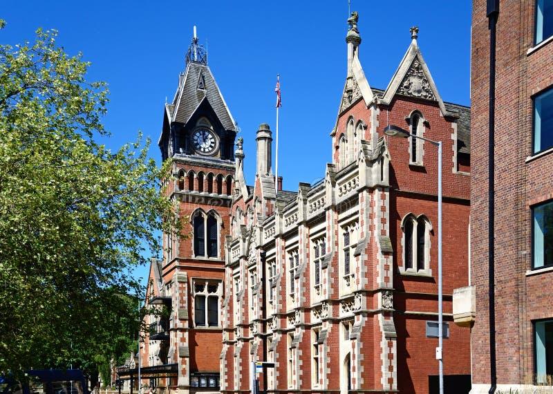 Municipio vittoriano, Burton sopra Trent fotografie stock
