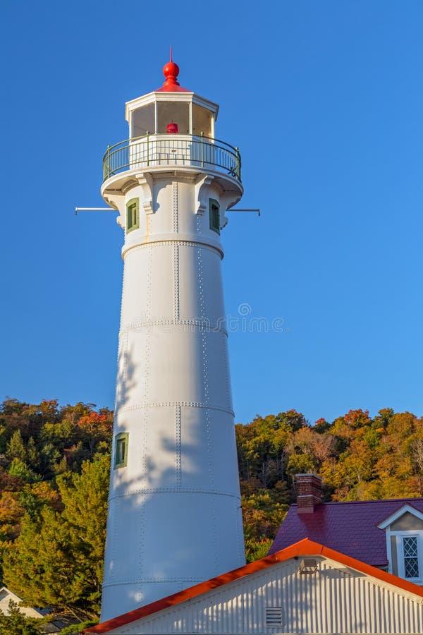 Munising Front Range Lighthouse royalty-vrije stock fotografie