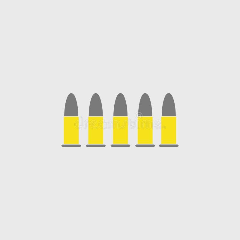 munitie kogels pictogram Vector illustratie Eps 10 stock illustratie