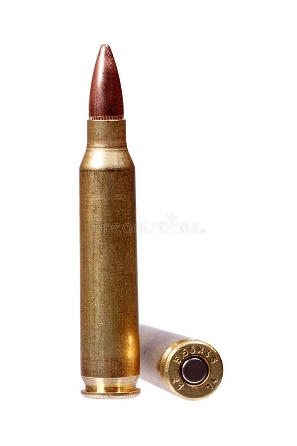 Munition auf weißem Hintergrund lizenzfreies stockbild