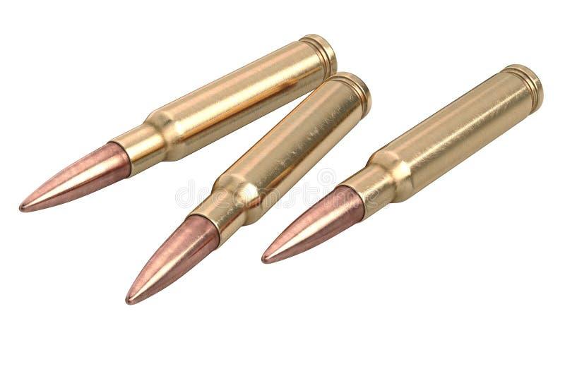 Munitions d'arme de fusil de balle illustration stock