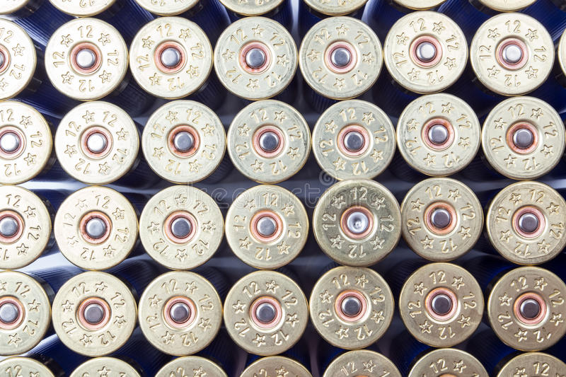 Munizioni del fucile da caccia immagine stock libera da diritti