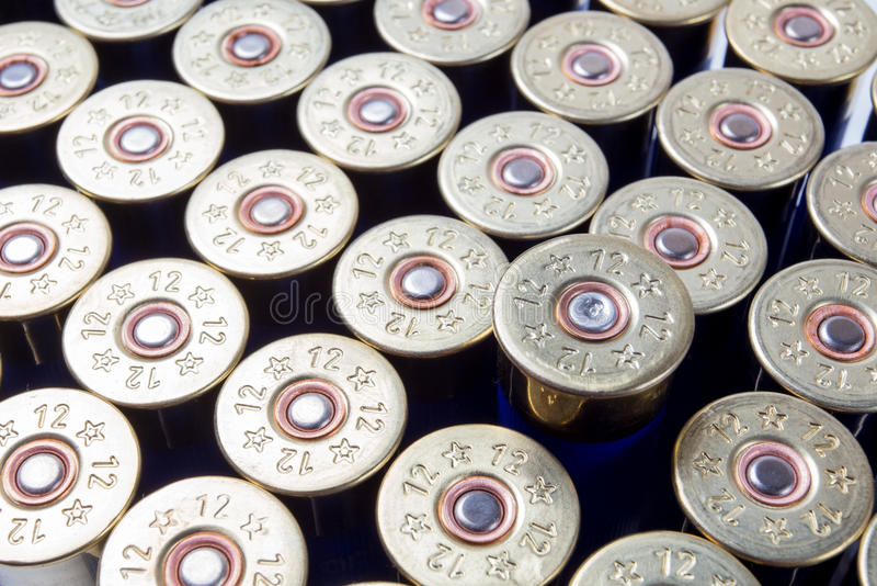 Munizioni del fucile da caccia fotografia stock libera da diritti