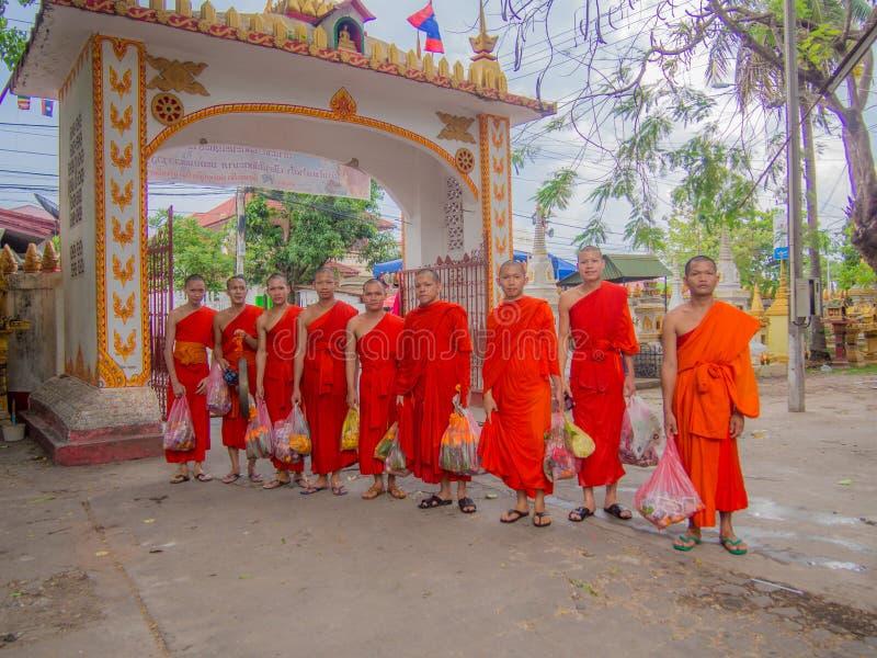 Munk i buddist royaltyfria foton