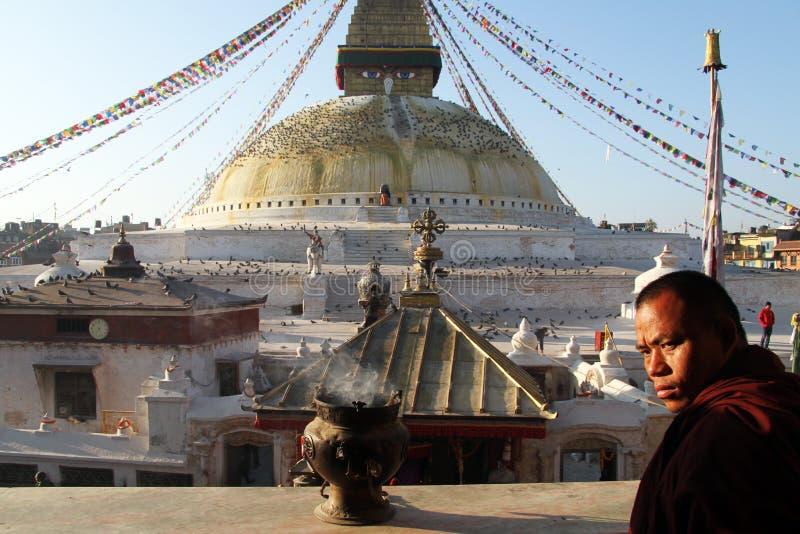 Munk och stupa royaltyfri fotografi