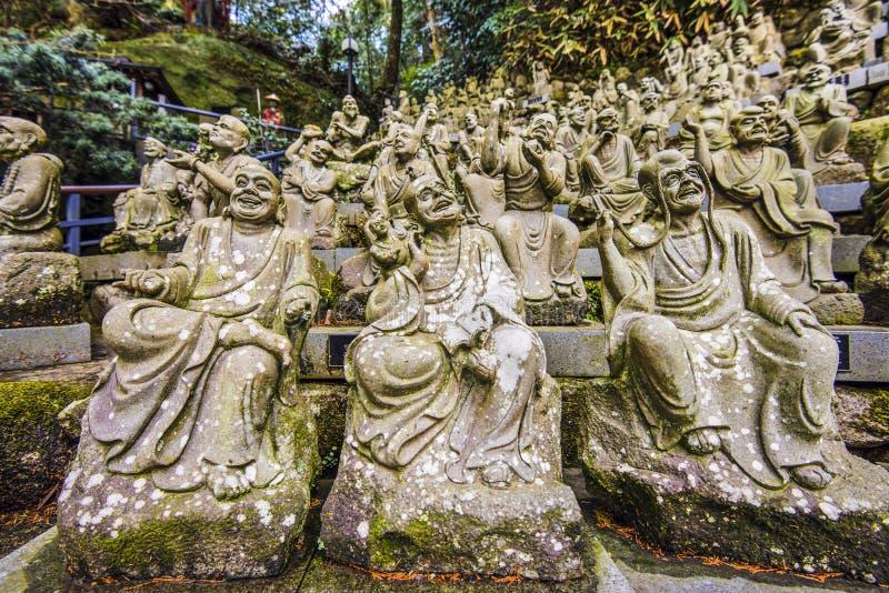 Munk Statues royaltyfria bilder