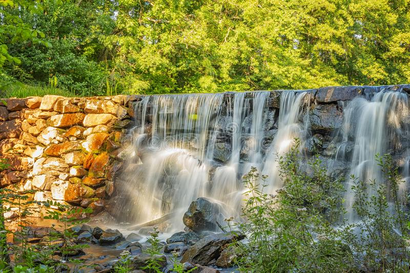 Munka Ljungby Salmon Ladder Waterfall photographie stock libre de droits