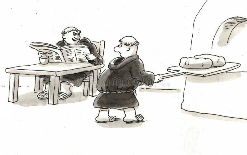 Munkar stock illustrationer