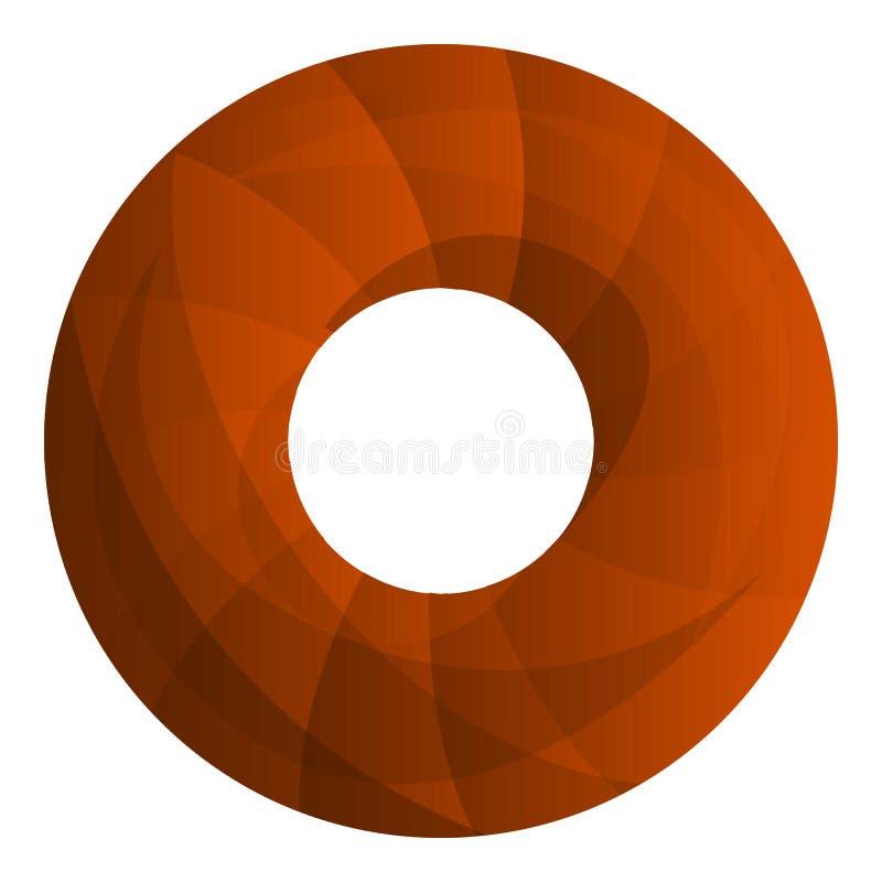 Munkkakor symbol, tecknad filmstil vektor illustrationer