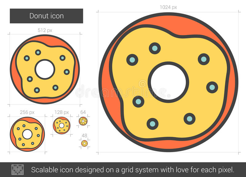 Munklinje symbol vektor illustrationer