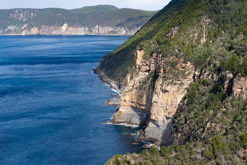 Munro Bight, penisola di Tasman, Tasmania, Australia immagini stock libere da diritti