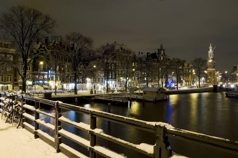 Munt toren Amsterdam stock photo