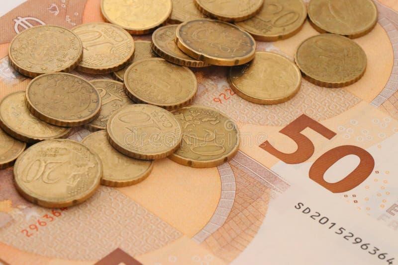 Munt van de Europese Unie stock foto