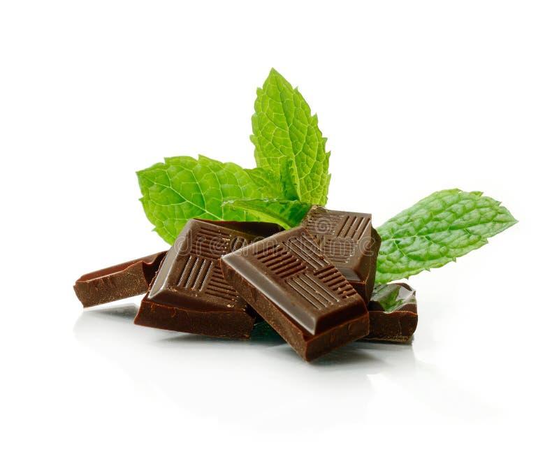 Muntchocolade royalty-vrije stock afbeelding