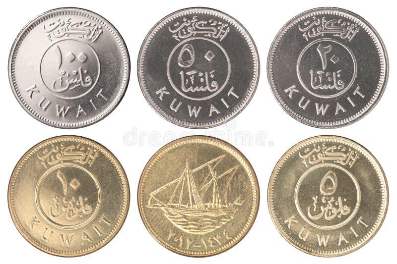 Muntstuk Koeweit Fils stock foto's