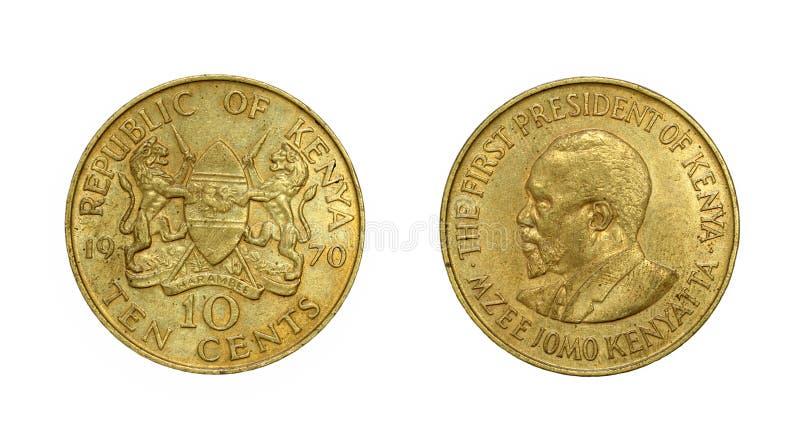 Muntstuk van Kenya met beeld van eerste voorzitter royalty-vrije stock foto's