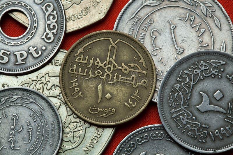 Muntstukken van Egypte stock foto's