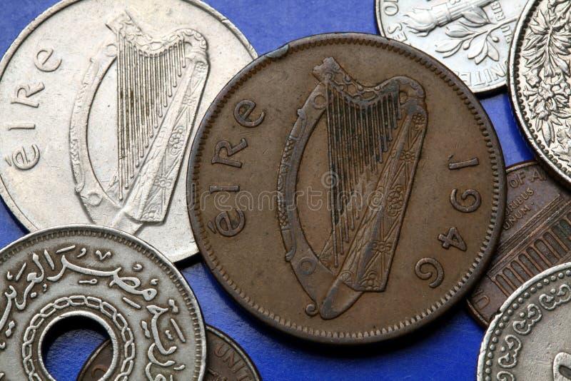 Muntstukken van Ierland royalty-vrije stock afbeeldingen