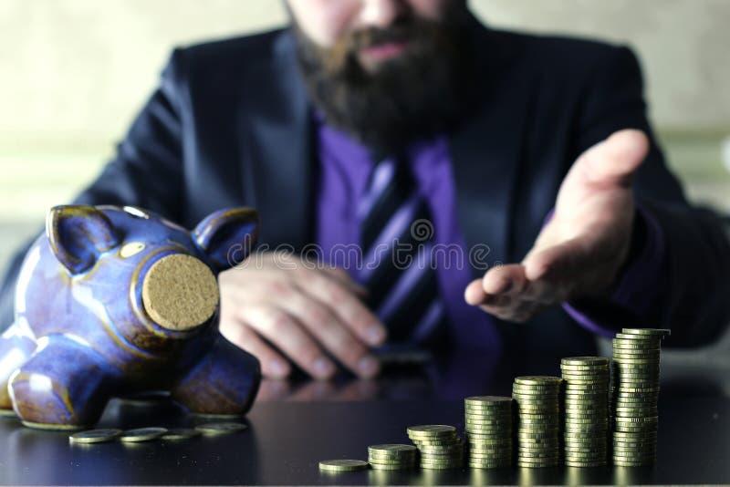 Muntstukspaarvarken royalty-vrije stock afbeeldingen