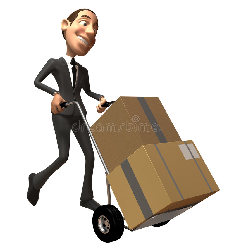 Muoversi dell'uomo d'affari illustrazione di stock