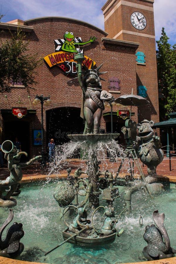 Muppet fontanna przy Hollywood studiami fotografia stock