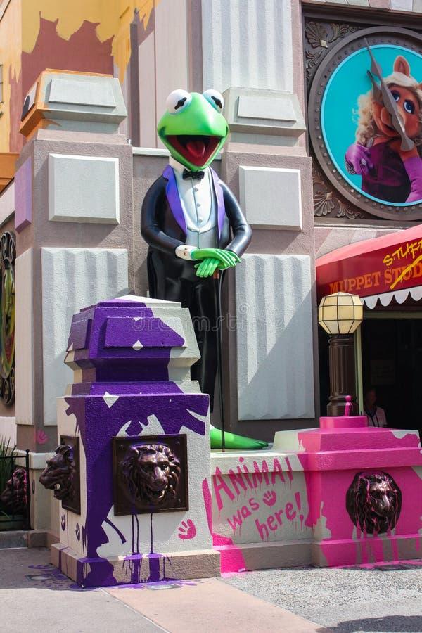 Muppets 3D, estúdios de Hollywood fotografia de stock royalty free