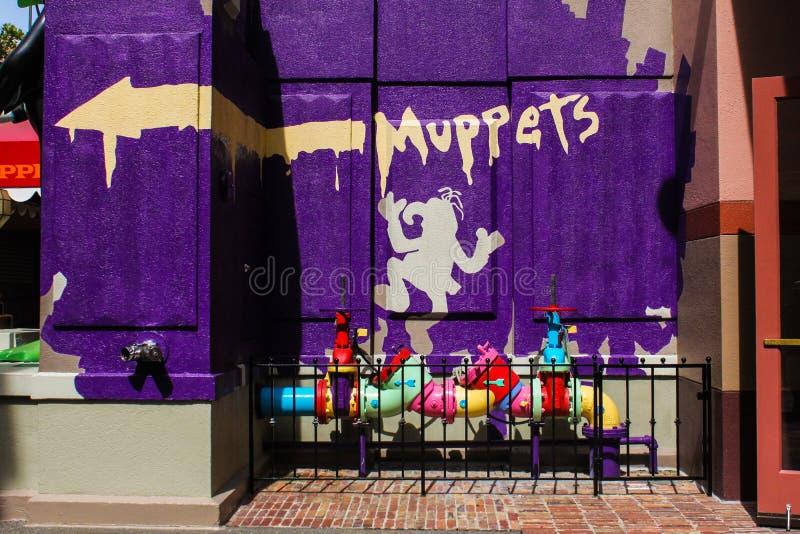 Muppets 3D, Hollywood studia zdjęcia stock