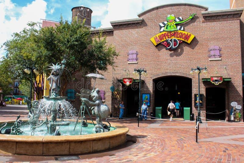 Muppets 3D, studios de Hollywood photo libre de droits